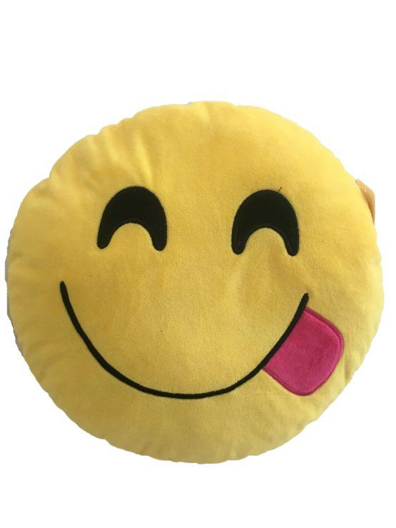 Възглавничка емотикон – изплезена усмивка (:P)