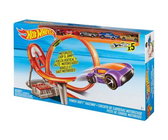 Hot Wheels – Състезателна, моторизирана писта с 5бр. колички