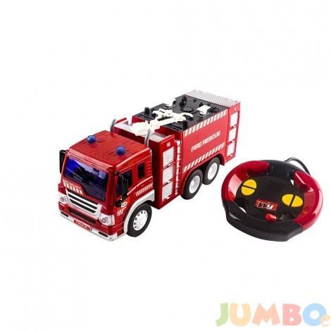 Пожарна с дистанционно и светещи фарове