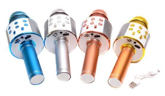 Bluetooth безжичен караоке микрофон с вградена тонколона