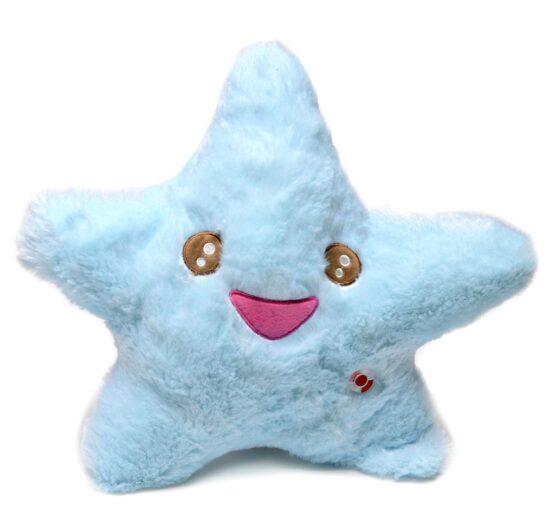 Светеща възглавничка синя звезда