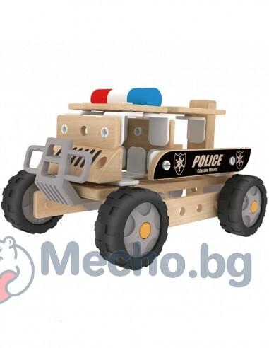 Дървен конструктор – Полицейски автомобил