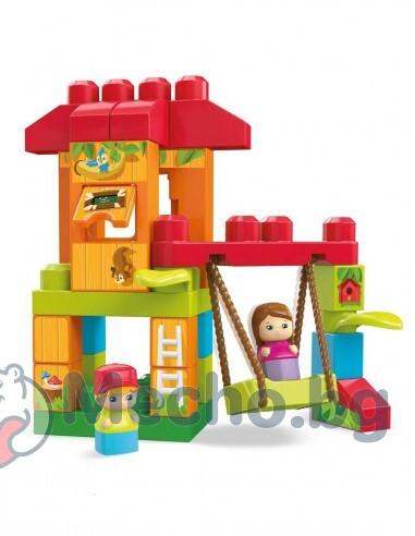 Конструктор за деца – Къщичка на дървото с люлка