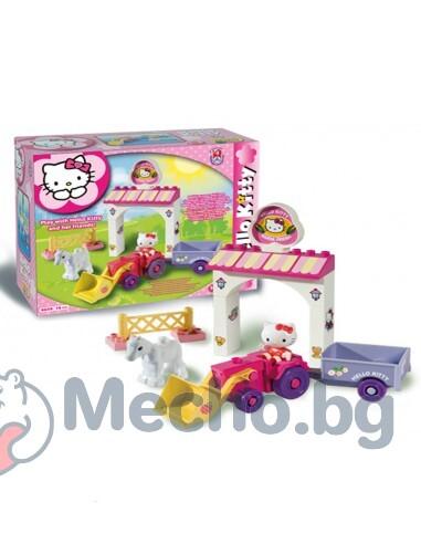 Конструктор за деца – мини ферма, Hello Kitty, Unico
