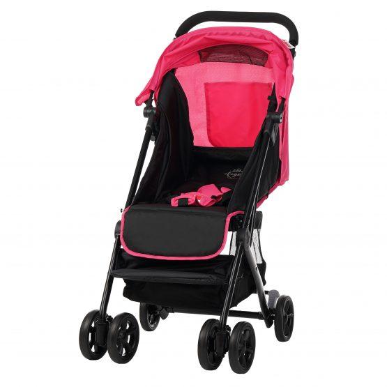Бебешка количка Jasmin – компактна, лесно сгъване и разгъване, розова