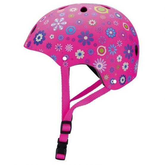 Детска каска за колело и тротинетка, 51-54 см – Розова