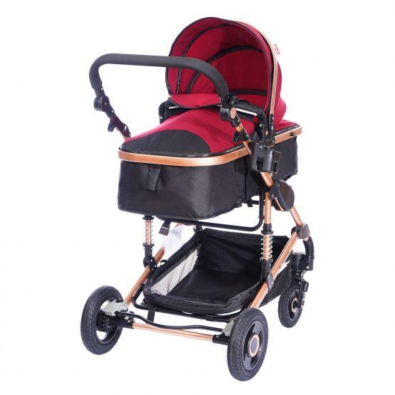 Комбинирана детска количка fontana – червена