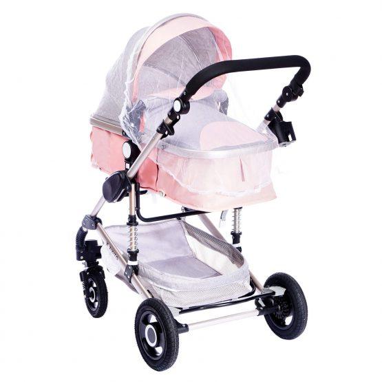 Комбинирана детска количка fontana – розова