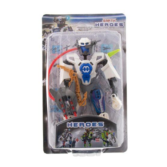Конструктор-робот  в бяло