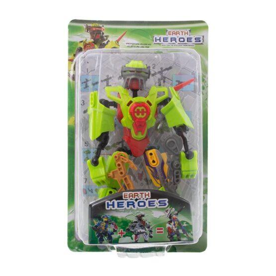 Конструктор-робот  в зелено