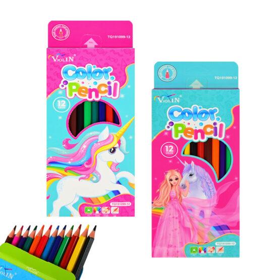 Цветни моливи – 12 цвята /за момичета/