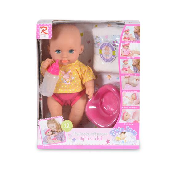 Кукла 31cm пишкаща с памперс и гърне 8125