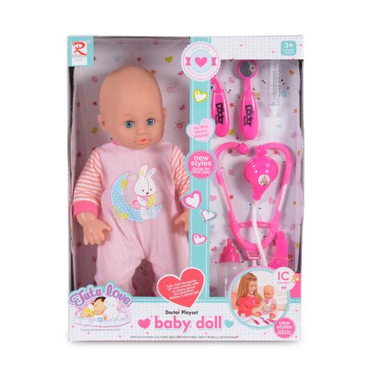 Кукла 36cm с докторски комплект 8100