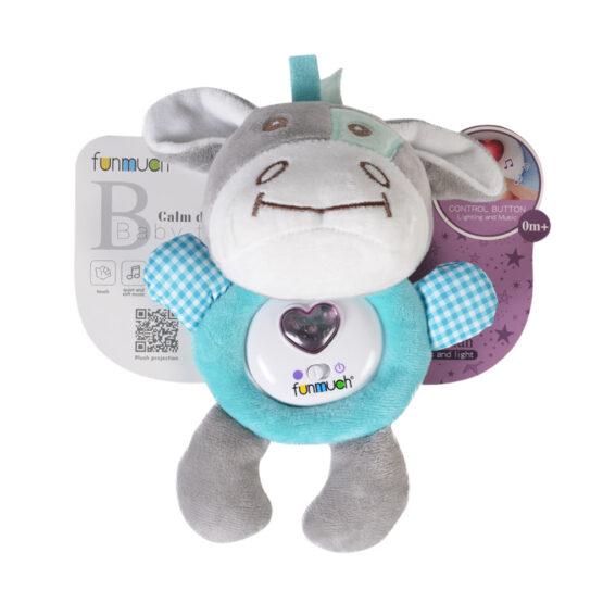 Мека светеща играчка тюркоаз FM888_2D
