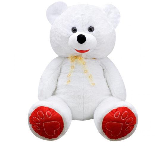 Плюшен мечок голям в бяло